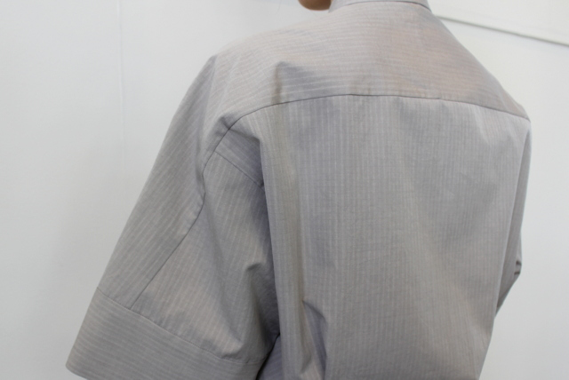 AURALEE(オーラリー)【21SS】WASHED FINX RIPSTOP CHAMBRAY HALF SLEEVED SHIRTS_A21SS06FL【K】(7)