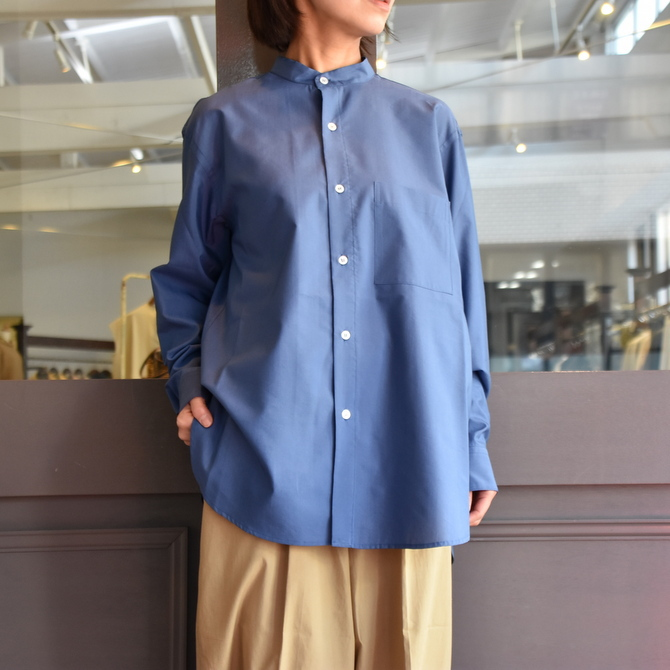 CristaSeya(クリスタセヤ)/ SILK AND COTTON MAO SHIRT #08DA-SC-BL(7)