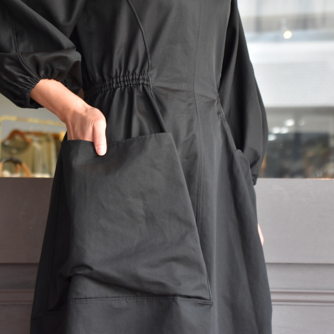 TENNE HANDCRAFTED MODERN(テン ハンドクラフテッドモダン) VOLUME SLEEVE DRESS #0014DR(8)