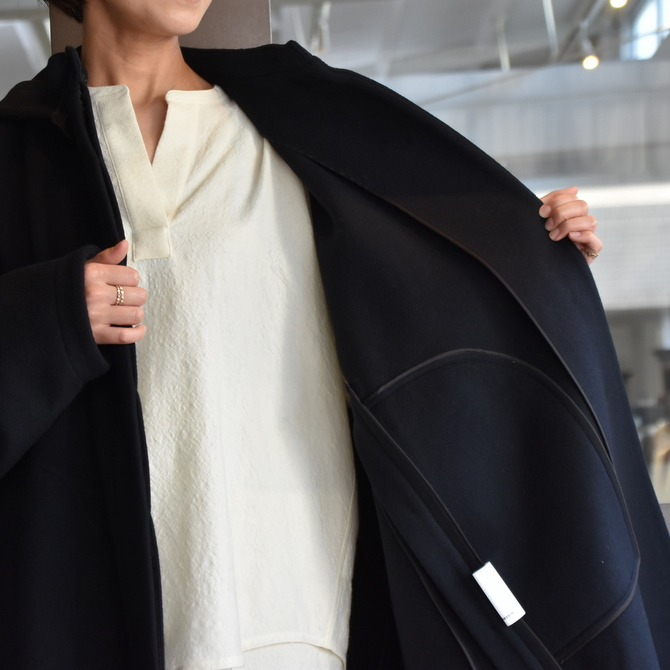 TENNE HANDCRAFTED MODERN(テン ハンドクラフテッドモダン) SUPER 180'S WOOL CAPE WITH HOOD #0020CT(8)