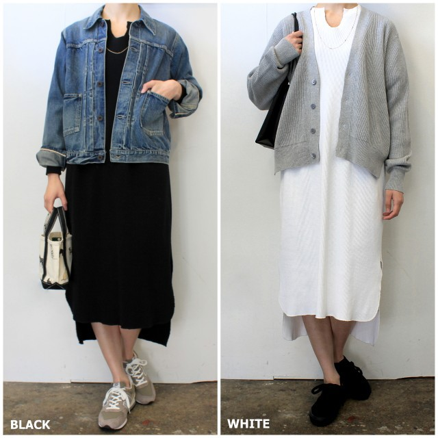 【30% off sale】Graphpaper(グラフペーパー)【20 SS】Waffle L/S Slit Neck Dress(2色展開)_GL201-70132B【K】(9)