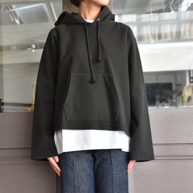 AURALEE(オーラリー) SUPER MILLED SWEAT CUT-OFF P/O PARKA #A20AP04SM(9)