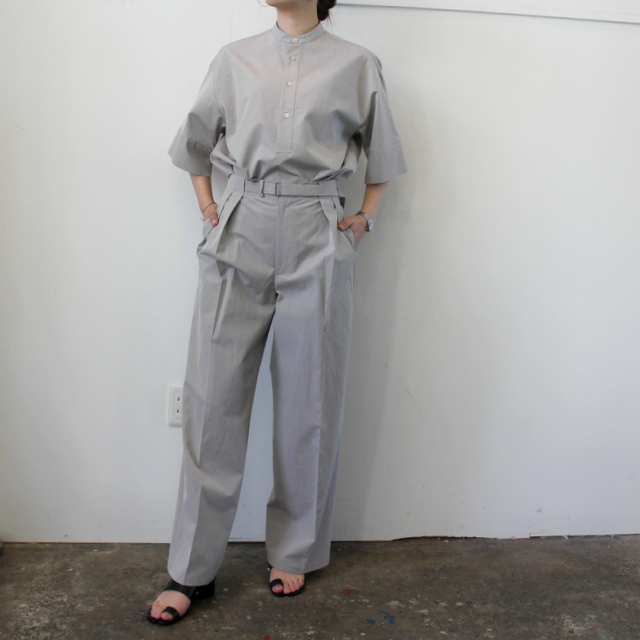 AURALEE(オーラリー)【21SS】WASHED FINX RIPSTOP CHAMBRAY HALF SLEEVED SHIRTS_A21SS06FL【K】(9)