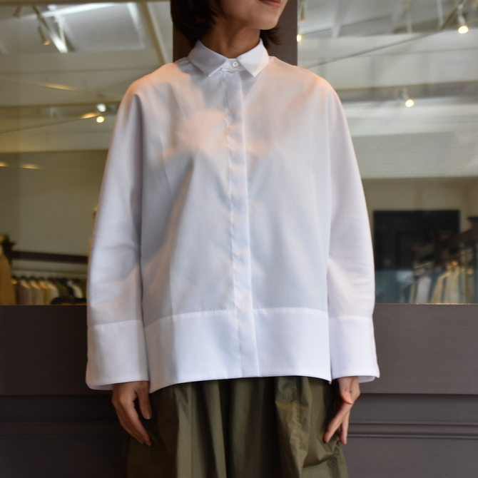TENNE HANDCRAFTED MODERN(テン ハンドクラフテッドモダン) GUSSET SL SHIRT WITH COLLAR #0013-21SS(9)