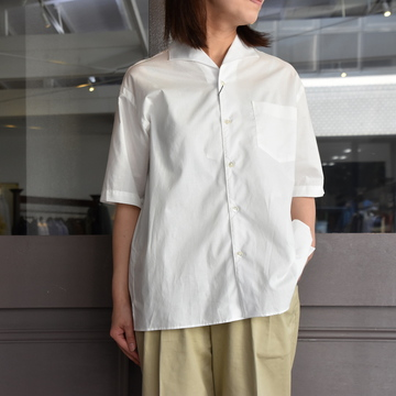 LENO&Co.(リノアンドコー) / ONE PIECE COLLAR OPEN SHIRT【Z】