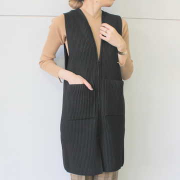AURALEE(オーラリー) SUPER WOOL RIB KNIT LONG VEST_A9AV07RK【K】