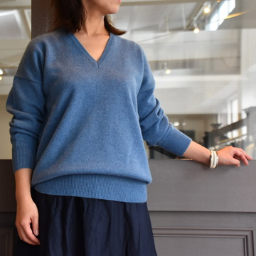 【40% off sale】(クリスタセヤ)/ CASHMERE V NECK OVRESIZED SWEATER -3colors- #11ED