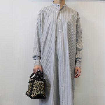 LENO&Co.(リノアンドコー) / BAND COLLAR PULLOVER DRESS(2色展開)_L2001DR001【K】
