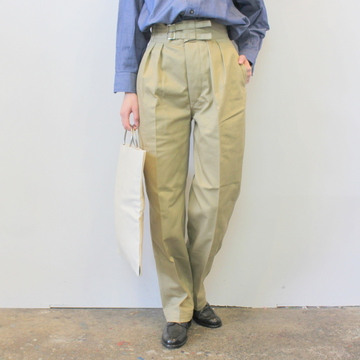 LENO&Co.(リノアンドコー) / 【20SS】DOUBLE BELTED GURKHA TROUSERS(2色展開)_L2001-PT001【K】