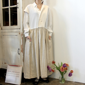 GASA*(ガサ) 【20SS】つくも Asymmetry dress_11201-10111-A-F【K】