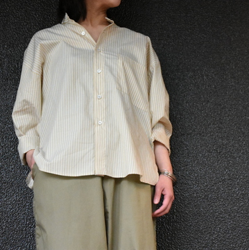 CristaSeya(クリスタセヤ)/  STRIPED JAPANESE COTTON PYJAMA SHIRT #02DA-ST-Y