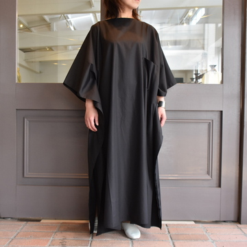 CristaSeya(クリスタセヤ)/ LIGHT COTTON OVERSIZED CAFTAN (BLACK) #07DA-C-BK