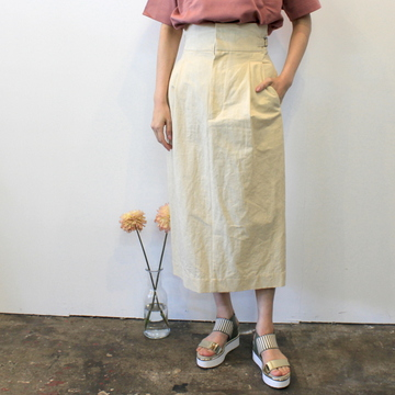 【30% off sale】YLÉVE(イレーヴ) 【20SS】C/L TWILL SKIRT(2色展開)_168-013008【K】