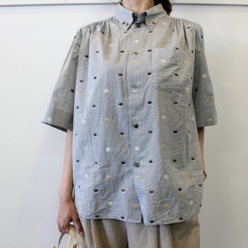 GASA*(ガサ) 【20SS】花ごろも short sleeve shirt_11201-15207【K】