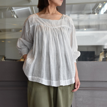 TOUJOURS(トゥジュー)  Classic Pleated Blouse  #TM32JS02