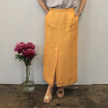 AURALEE(オーラリー) 【20SS】LINEN DOUBLE FACE FRINGE SKIRT(2色展開)_A20SS06WL【K】