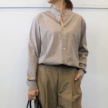 AURALEE(オーラリー)【20AW】WASHED FINX TWILL SHIRTS(2色展開)_A20AS03TN【K】