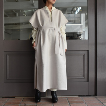 CristaSeya(クリスタセヤ)/FELTED WOOL CAFTAN -WHITE- #13S-B