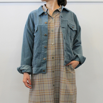 LENO&Co.(リノアンドコー) 【20AW】CORDUROY BIG TRUCKER JACKET_H2002JK003【K】