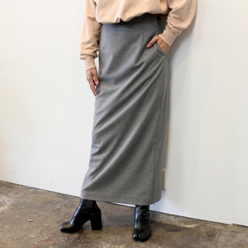 AURALEE(オーラリー)【20AW】WOOL FULLING FLANNEL SKIRT_A20AS08CF【K】