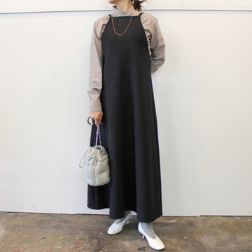 AURALEE(オーラリー)【20AW】LIGHT MELTON LONG ONE-PIECE(2色展開)_A20AD05LM【K】