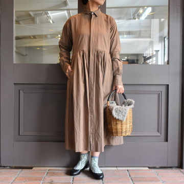 TOUJOURS(トゥジュー)  Randam Pleated Shirt Dress #MM33DD03