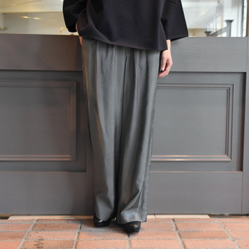 YLÉVE(イレーヴ)  VISCOSE CHECK TROUSERS #168-0240021
