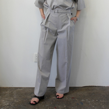 AURALEE(オーラリー)【21SS】WASHED FINX RIPSTOP CHAMBRAY BELTED PANTS_A21SP07FL【K】