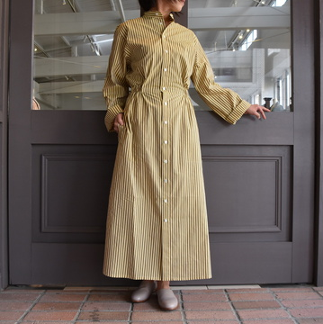 CristaSeya(クリスタセヤ)/ GATHERED COTTON MAO SHIRT DRESS #01SA-ST
