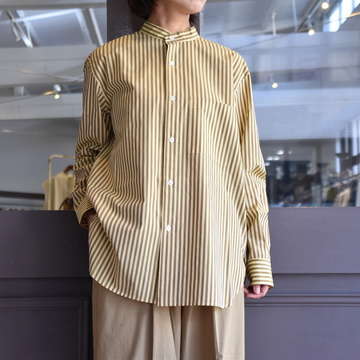 CristaSeya(クリスタセヤ)/ STRIPED COTTON MAO SHIRT #08DA-ST-YBRS