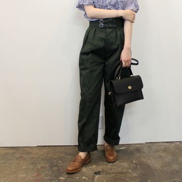 LENO&Co.(リノアンドコー) 【21SS】DOUBLE BELTED GURKHA TROUSERS(3色展開)_L2101PT001【K】