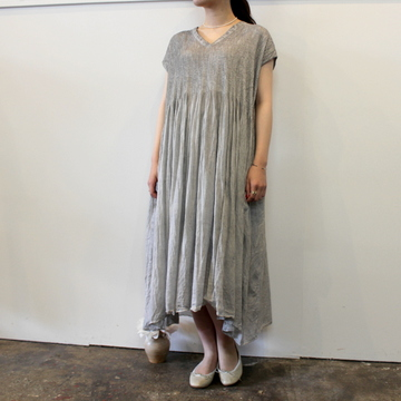 maison de soil(メゾンドソイル) MINI PINTUCK V-NECK DRESS_NMDS21182【K】
