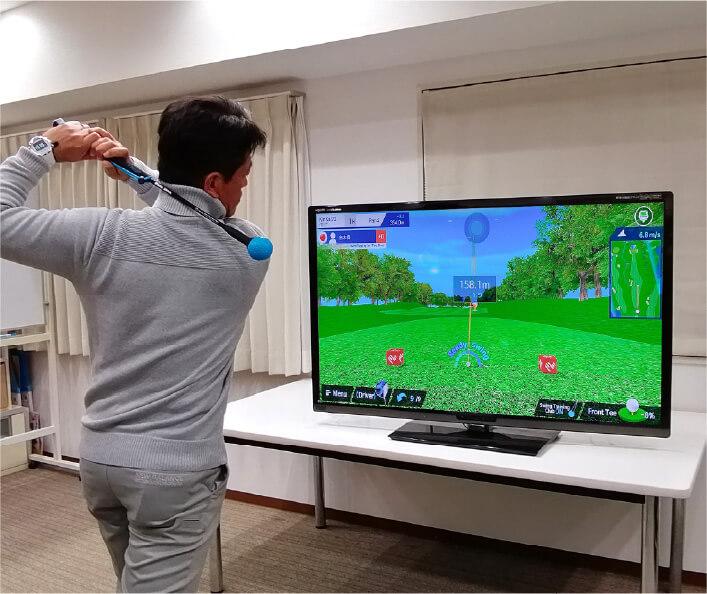 「ファイゴルフ」シミュレーションゲームのイメージ図